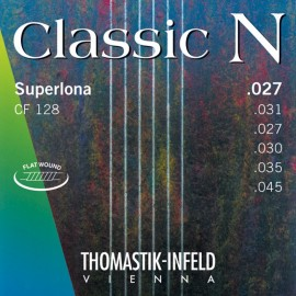 Thomastik Classic N Superlona 27-45 Light Chrome Steel Flat Wound Basses Classical Guitar Strings CF128