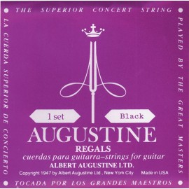 Augustine Regal Black 29.5-43.5 High Tension Classical Guitar Strings ARBK