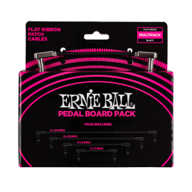 Ernie Ball Flat Ribbon Pedalboard Patch Cables Multi-Pack P06224
