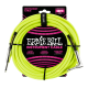 Ernie Ball Neon Yellow 18ft Braided Instrument Cable P06085