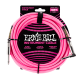 Ernie Ball Neon Pink 18ft Braided Instrument Cable P06083