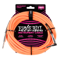 Ernie Ball Neon Orange 18ft Braided Instrument Cable P06084