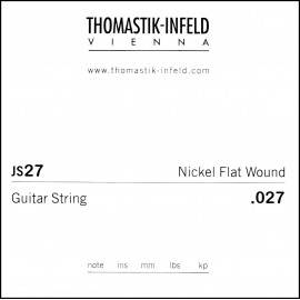 Thomastik-Infeld Single Jazz Swing Flat Wound .027 Nickel Electric Guitar String JS27