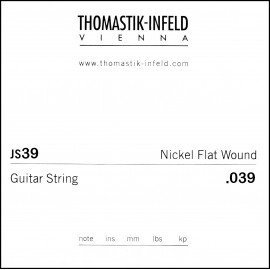 Thomastik-Infeld Single Jazz Swing Flat Wound .039 Nickel Electric Guitar String JS39