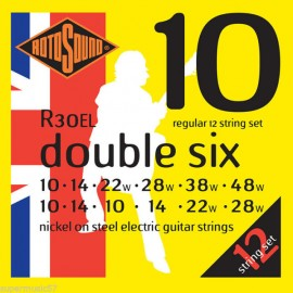 Rotosound Roto 12 String Double Six 10-48 Regular Nickel Electric Guitar Strings R30EL