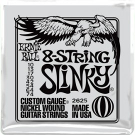 Ernie Ball 2625 8 String Slinky Nickel Wound 10-74 Electric Guitar Strings
