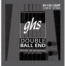 Ghs 5 String Double Ball Bass 40-126 Roundwound Stainless Steel Bass Strings 5LDBB