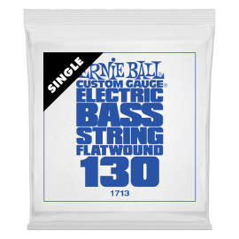 Ernie Ball Flatwound Single .130 Gauge Stainless Steel Electric Bass String P01713