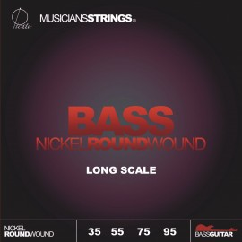 Picato 97353 Medium Light Nickel Roundwound Bass Strings 35 - 95