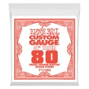 Ernie Ball Single .080w Nickel Wound Extra Long Electric Guitar String P01180