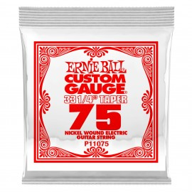 Ernie Ball Single .075w Nickel Wound Extra Long Electric Guitar String P01175