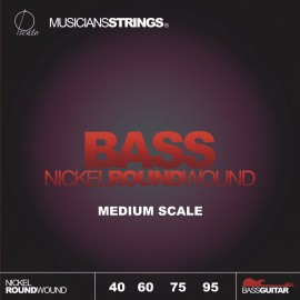 Picato 97360 Medium Scale Nickel Roundwound Bass Strings 40 - 95