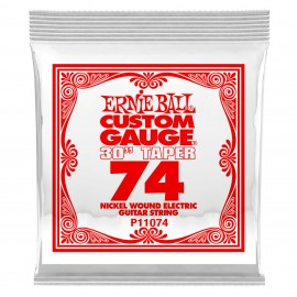 """Ernie Ball Single .074w Nickel Wound 30"""" Taper Extra Long Electric Guitar String P11074"""