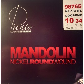Picato Nickel Roundwound Loop End 10-34 Light Mandolin Strings 98765