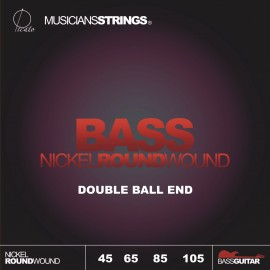 Picato 97314 Standard Double Ball End, Long Scale Nickel Roundwound Bass Strings 45 - 105