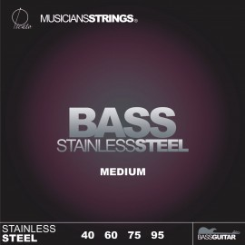Picato 96641 Medium Gauge Stainless Steel Long Scale Bass Strings 40 - 95