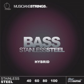 Picato 96642 Hybrid Gauge Stainless Steel Long Scale Bass Strings 40 - 100