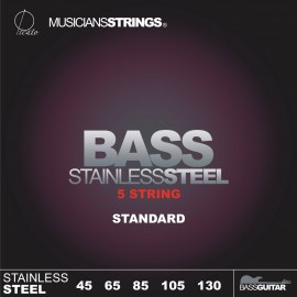 Picato 96656 Standard Gauge 5 String Stainless Steel Long Scale Bass Strings 45 - 130