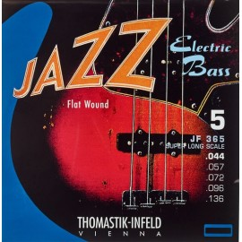 Thomastik 5 String Jazz 44-136 Super Long Scale Flatwound Bass Guitar Strings JF365