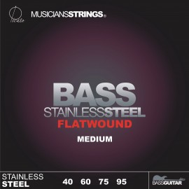 Picato 96681 Flatwound Medium Gauge Stainless Steel Long Scale Bass Strings 40 - 95