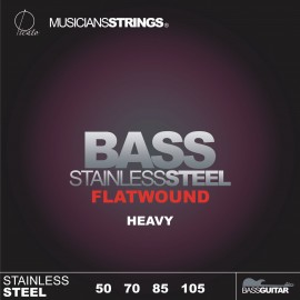 Picato 96682 Flatwound Heavy Stainless Steel Long Scale Bass Strings 50 - 105