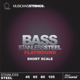 Picato 96658s Flatwound Light Stainless Steel Short Scale Bass Strings 45 - 105