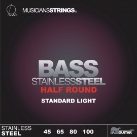 Picato 96659 Half Round Standard Light Stainless Steel Long Scale Bass Strings 45 - 100
