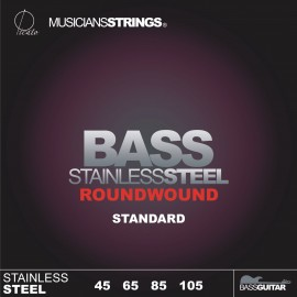 Picato 91111 Roundwound Standard Stainless Steel Long Scale Bass Strings 45 - 105