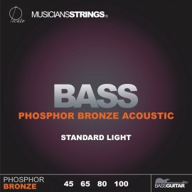 Picato 96510 Phosphor Bronze Standard Light Long Scale Acoustic Bass Strings 45 - 100