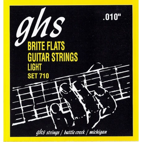 Ghs Brite Flats 10-46 Light Alloy 52 Electric Guitar Strings 710