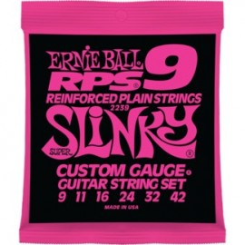 Ernie Ball 2239 RPS Super Slinky 09-42 Nickel Wound Reinforced Plain Electric Guitar Strings