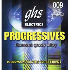 ghs 750 'Precision Flats' Ultra Light Stainless Steel Flatwound Electric Guitar Strings 09 - 42