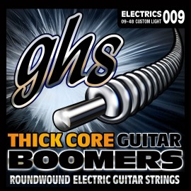 Ghs Thick Core Boomers 09-48 Custom Light Nickel Electric Guitar Strings HC-GBCL