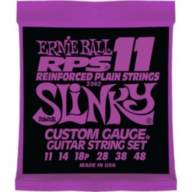 Ernie Ball 2242 RPS Power Slinky 11-48 Nickel Wound Reinforced Plain Electric Guitar Strings