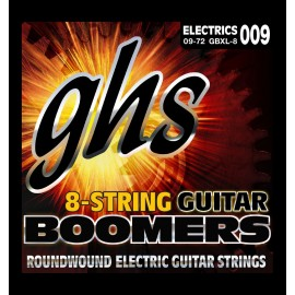 Ghs 8 String Boomers 09-72 Extra Light Nickel Electric Guitar Strings GBXL8
