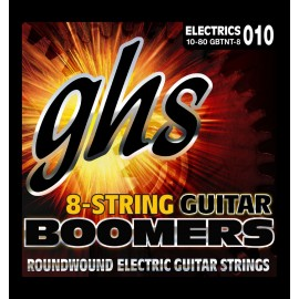 Ghs 8 String Boomers 10-80 Thin Thick Nickel Electric Guitar Strings GBTNT-8
