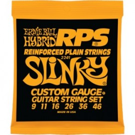 Ernie Ball 2241 RPS Hybrid Slinky 09-46 Nickel Wound Reinforced Plain Electric Guitar Strings