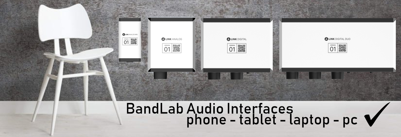 Bandlab Audio Interfaces -phones - tablets - laptops - desktops pc Yes!