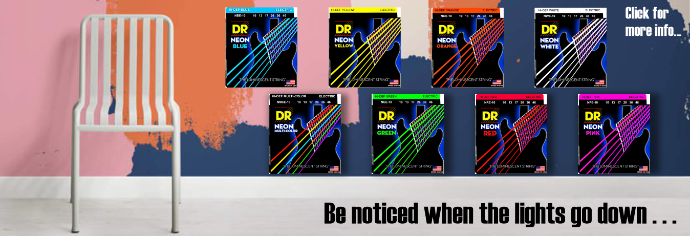 Dr Handmade Hi-Def Neon Colour Coated Electric, Acoustic and Bass Guitar Strings