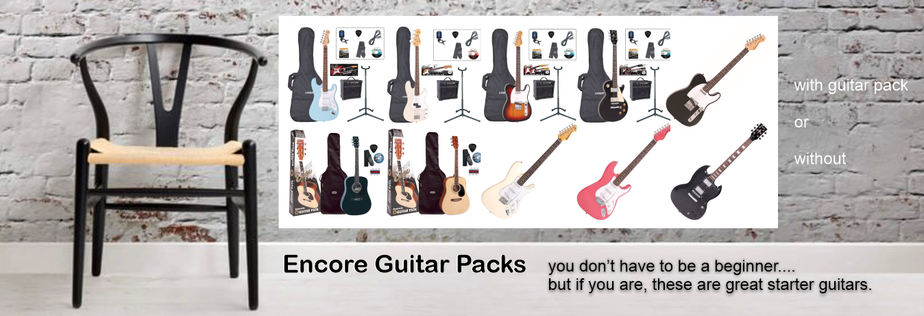 Encore Electric and acoustic Guitar Packs