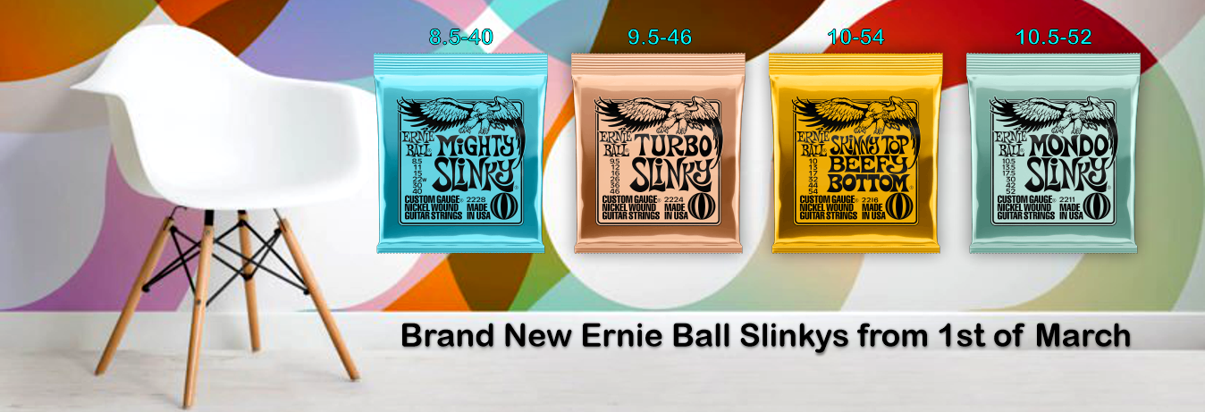 New Ernie Ball Slinkys