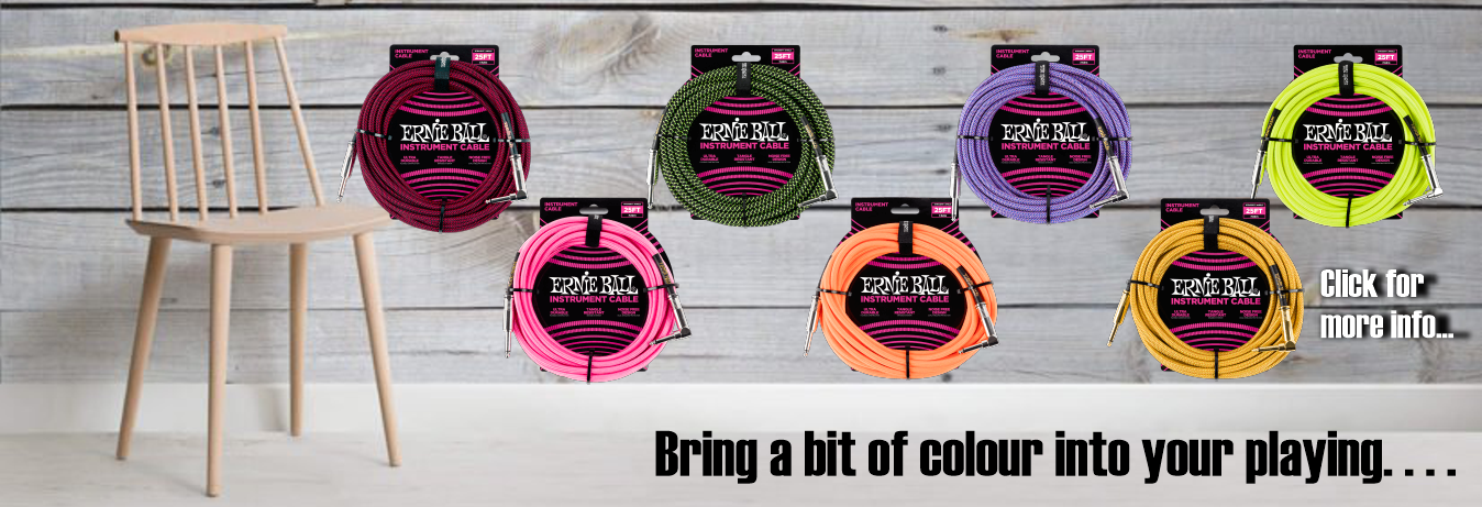 Ernie Ball New Instrument Cables